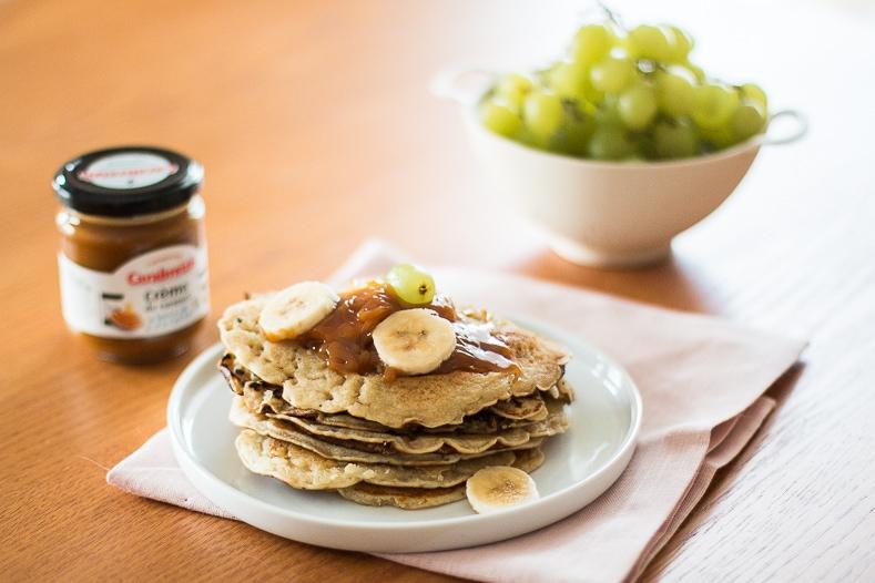 Pancakes vegan & caramel au beurre salé