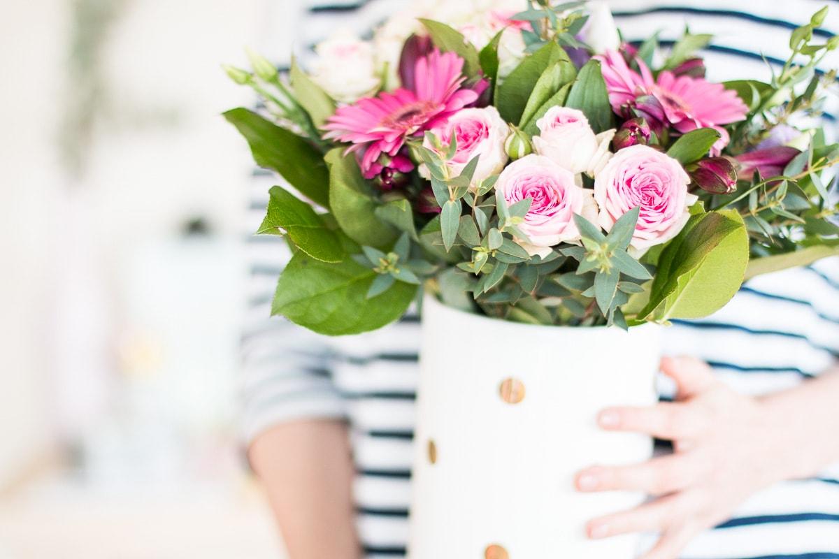 De jolies fleurs et des pensées