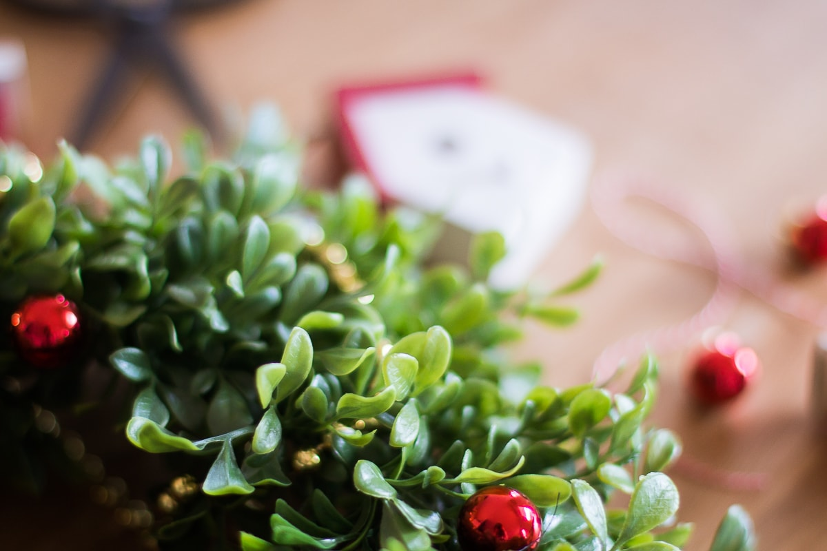 Couronne de Noël DIY Ikea