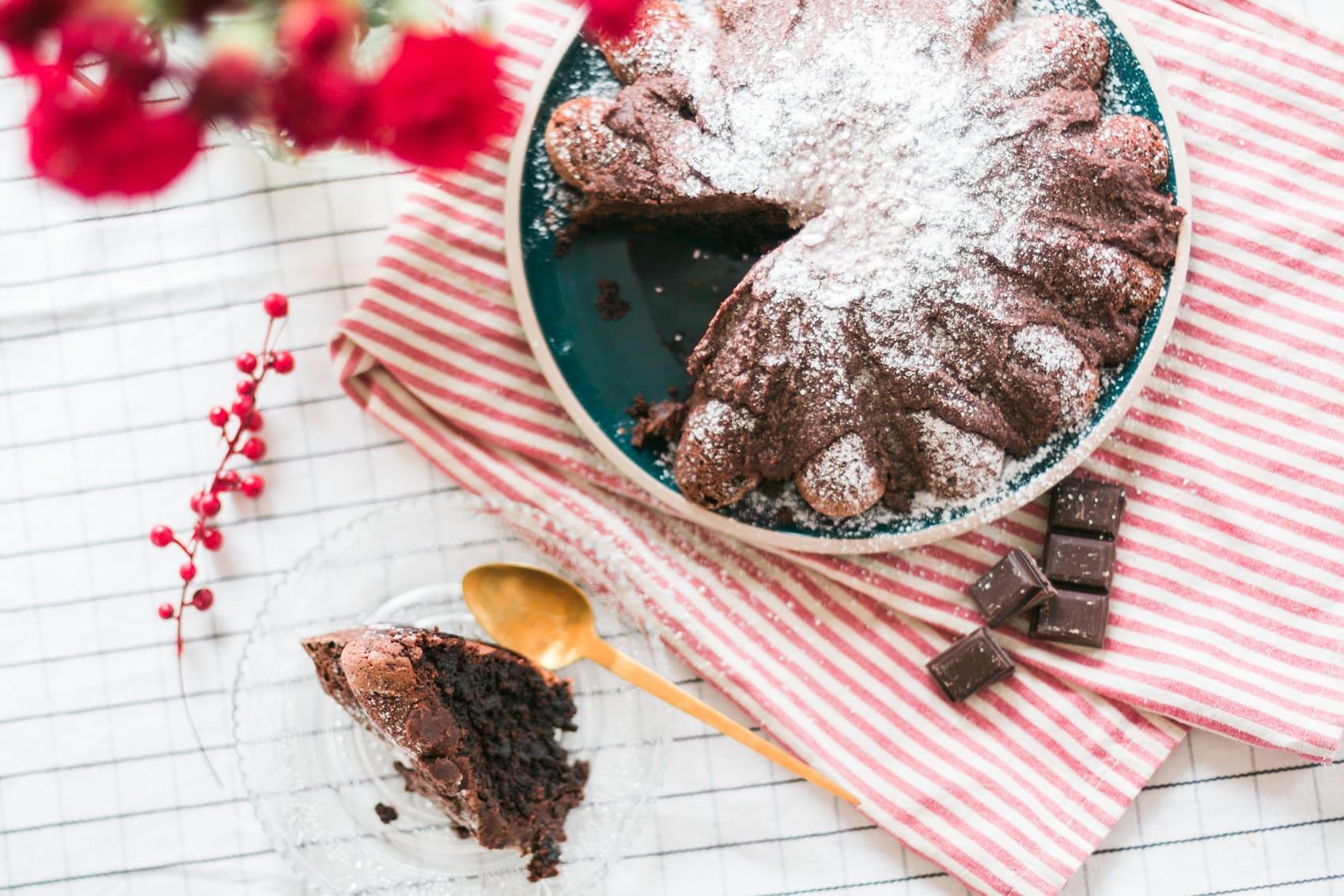 Gâteau chocolat, coco & crème de marron
