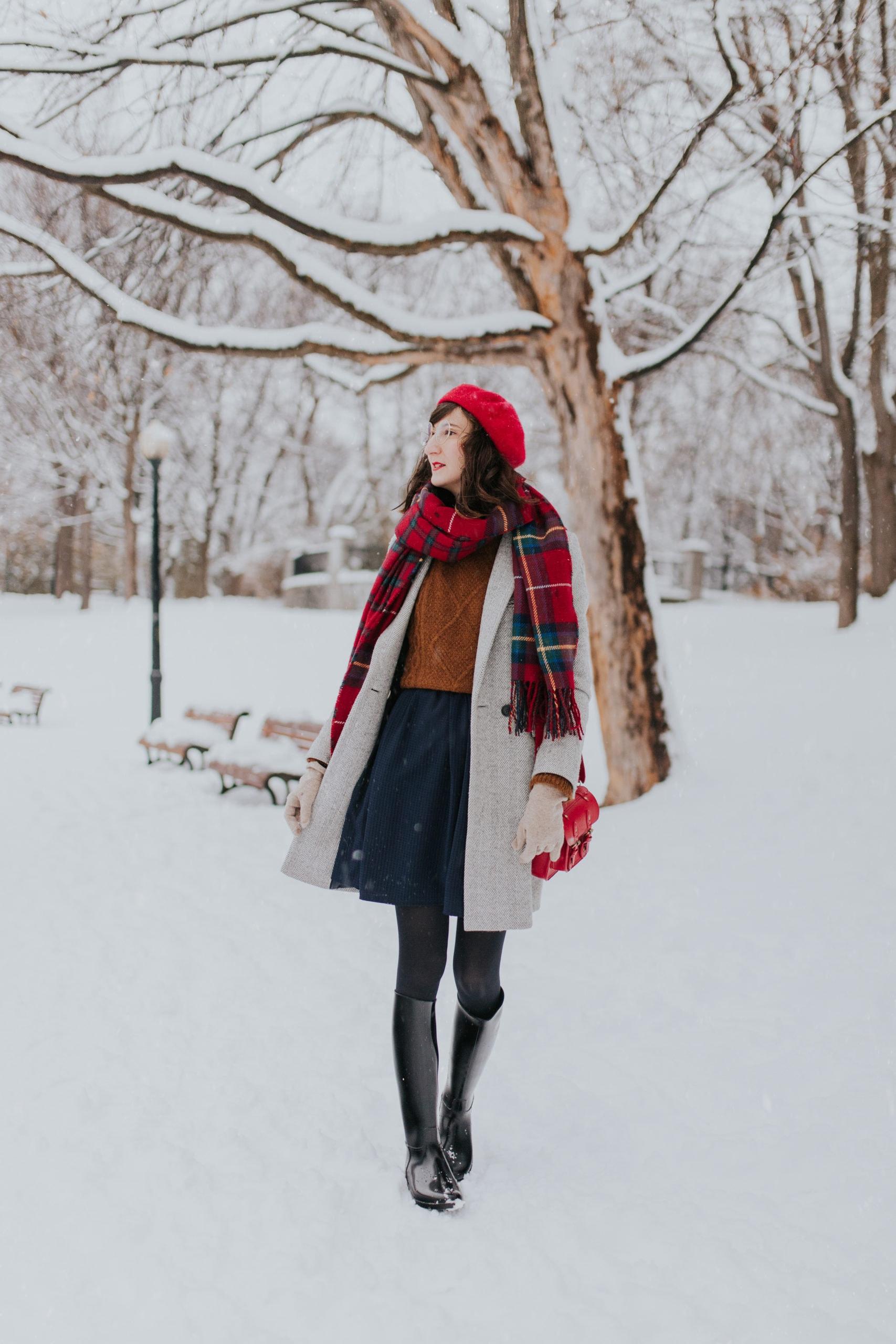 Des bottes de pluie en hiver