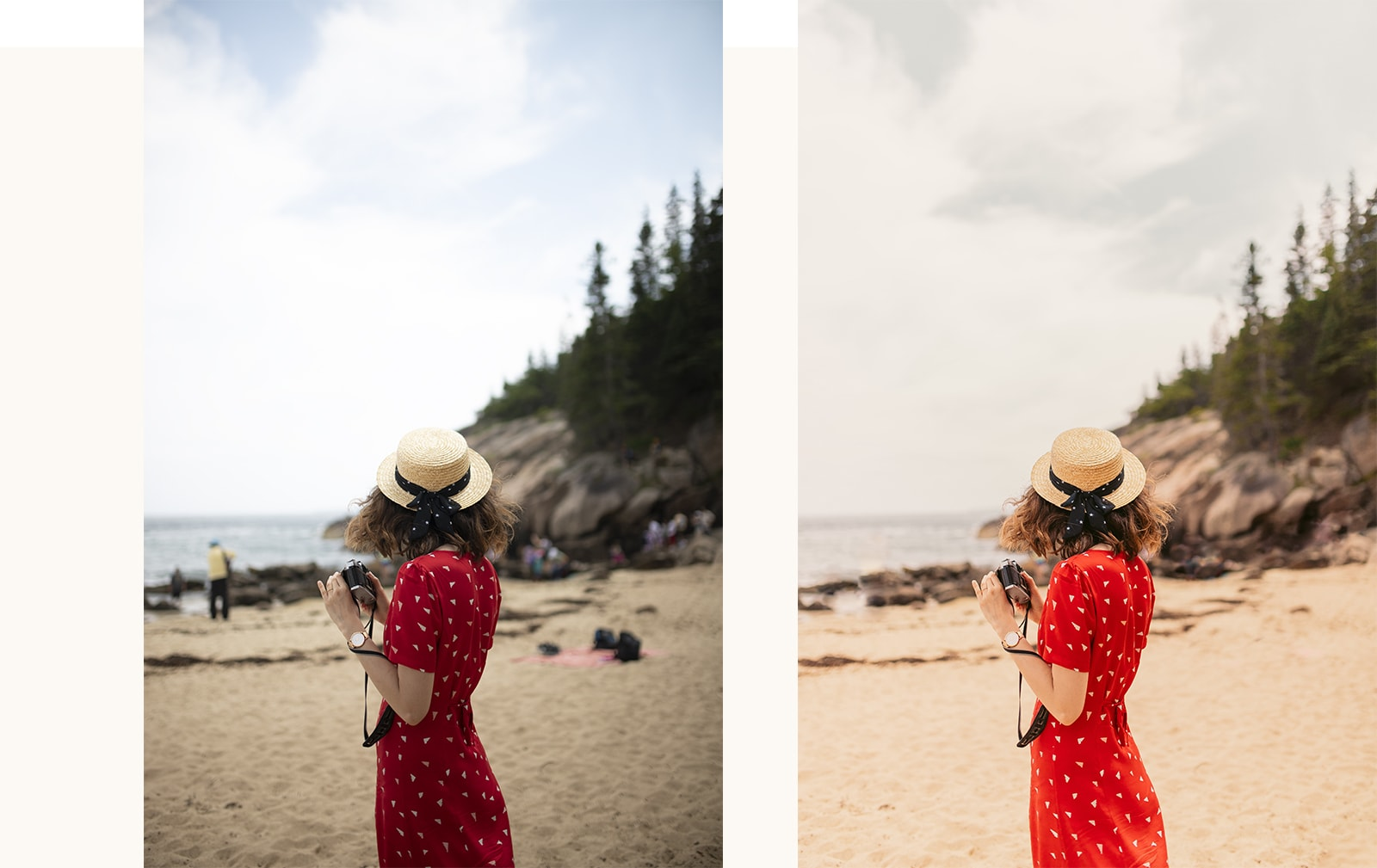 Avant-après d'une retouche de photographie sur Lightroom : apprendre à se servir d'un logiciel pour améliorer ses clichés.