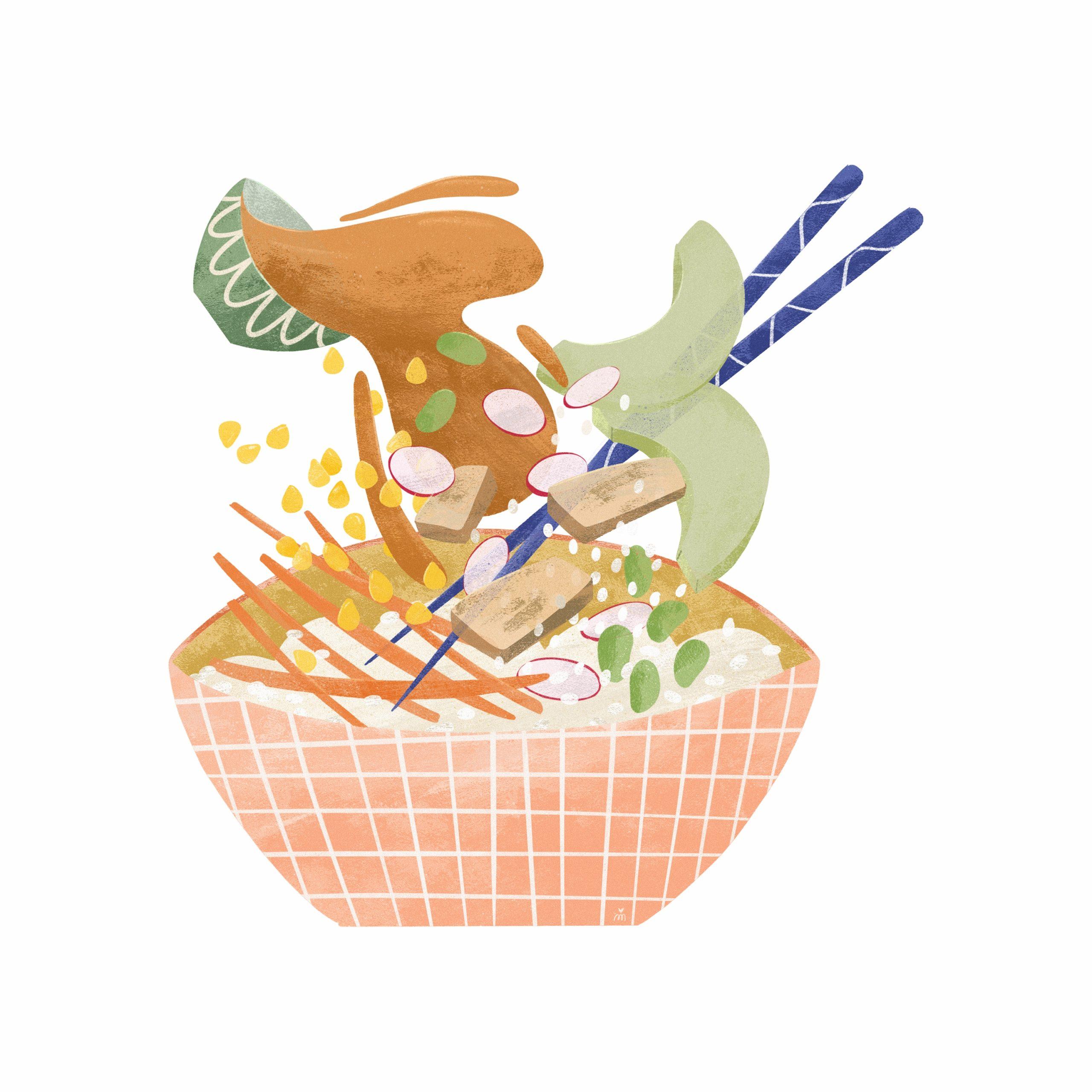 Mes recettes illustrées : le Poke Bowl